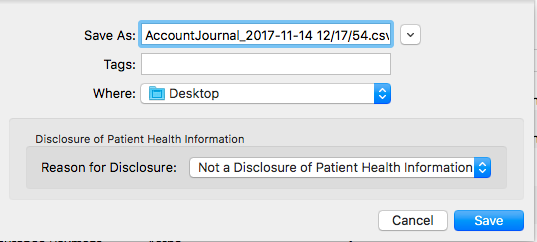 Exporting Accounting Data from MacPractice / Importing into