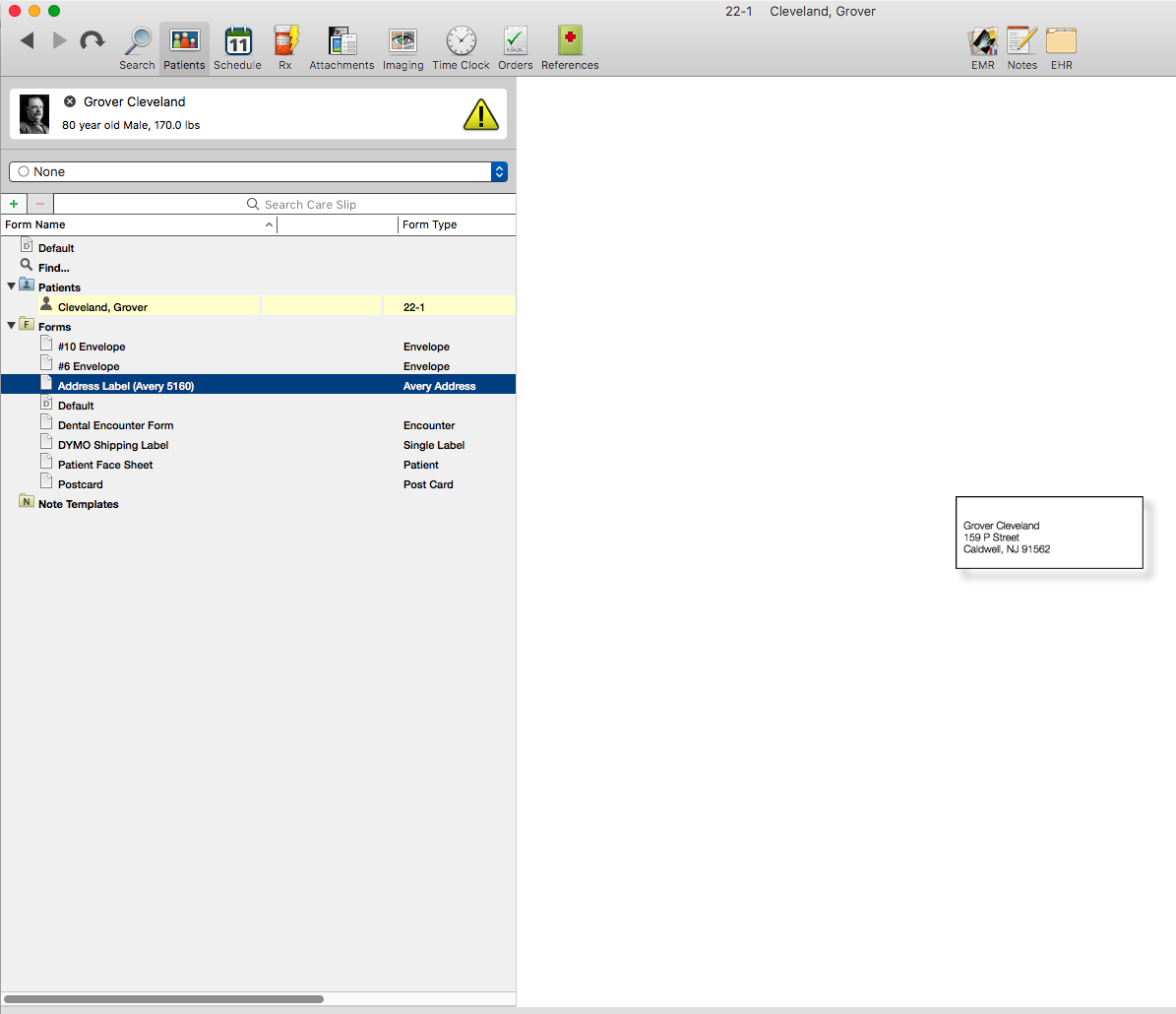how to create basic labels macpractice helpdesk
