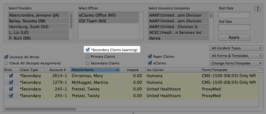 What is Secondary Claims (Warning) in New Claims Manager