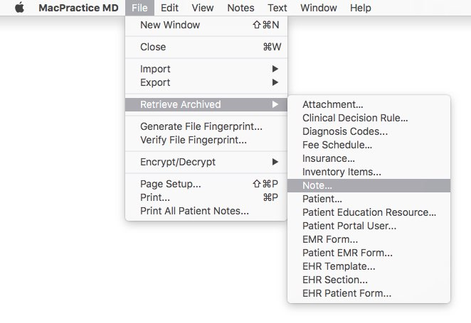Notes - Patient Notes – Macpractice