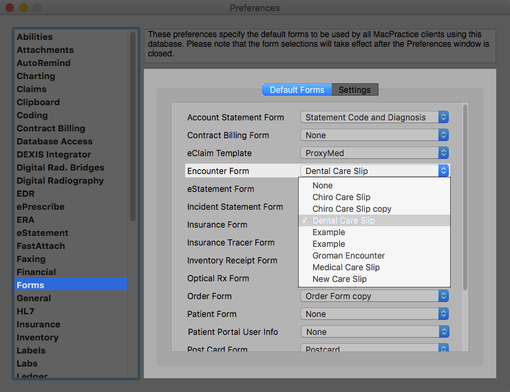 Forms - Care Slips and Encounter Forms – MacPractice HelpDesk