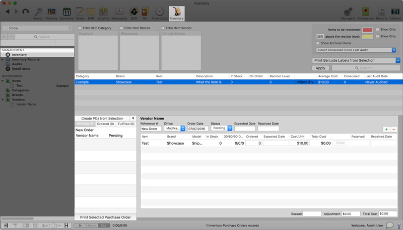 inventory purchase orders macpractice helpdesk