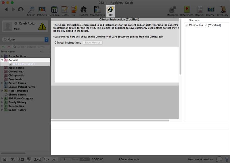 Interactive C-CDA Form – MacPractice HelpDesk